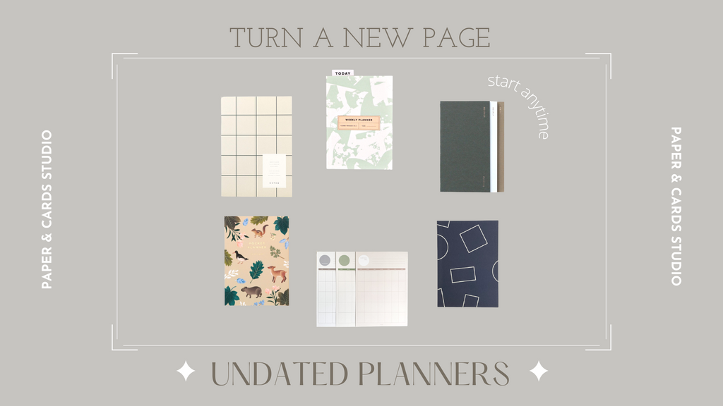 Undated Planner Recommendations Blog Paper & Cards Studio