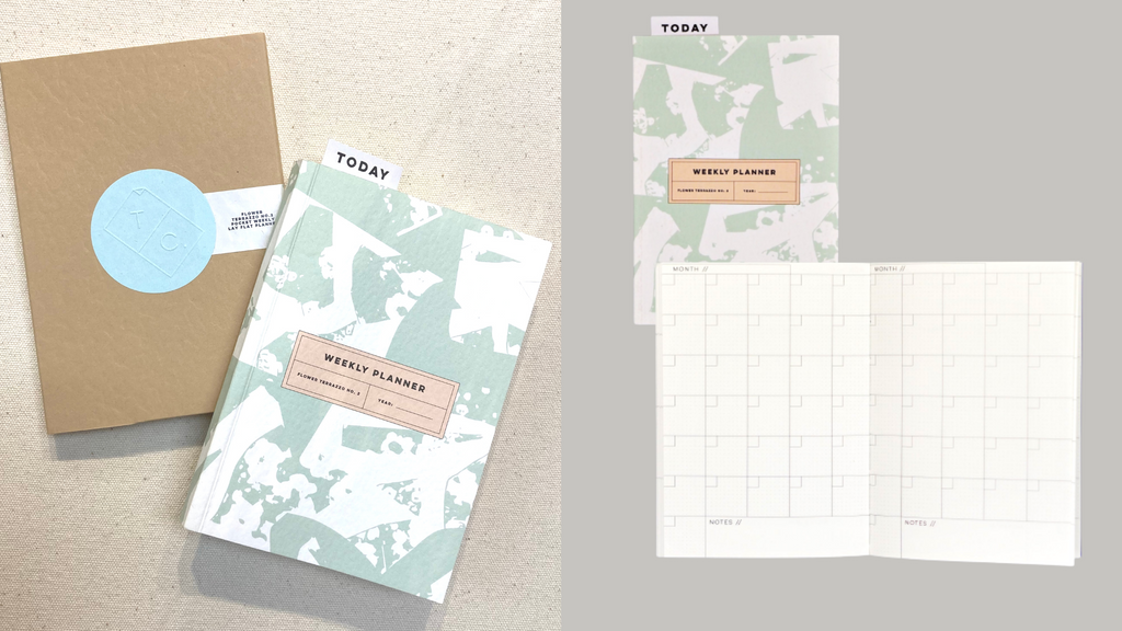 The Completist A6 Mini Illustrated Undated Pocket Planner Flower Terrazzo