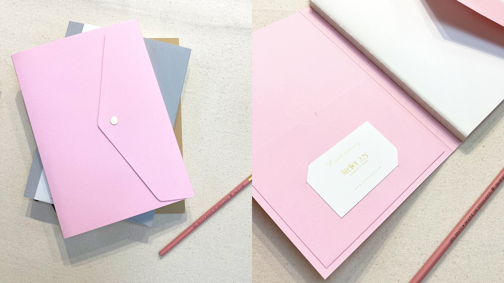 Blossom Pink Notebook Pliage ATELIER225 Hong Kong Stationery Paper & Cards Stationery