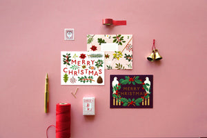Holiday Plants Merry Christmas Card - Cream | Paper & Cards Studio