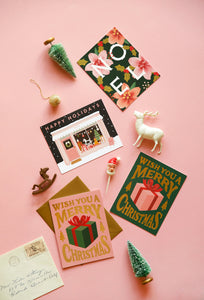 Christmas Present Card - Deep Green | Paper & Cards Studio