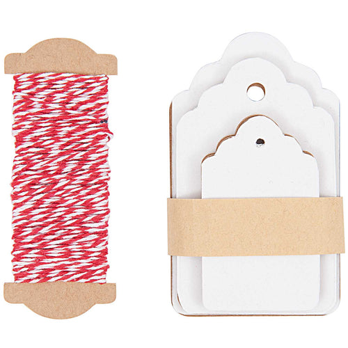 White Ornament Gift Tags | Paper & Cards Studio