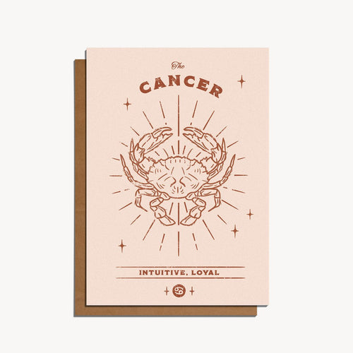 Cancer Zodiac Sign Birthday Card | Paper & Cards Studio