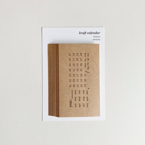 Kraft Calendar Stickers | Paper & Cards Studio