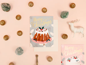 Holiday Desserts Card - Silver | Paper & Cards Studio