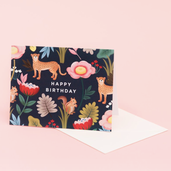 Animal Kingdom Birthday - Navy | Paper & Cards Studio