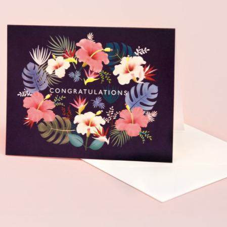 Lei Congratulations - Navy | Paper & Cards Studio