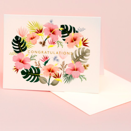 Lei Congratulations - Cream | Paper & Cards Studio