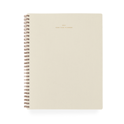 2021 Year Task Planner in Natural Linen