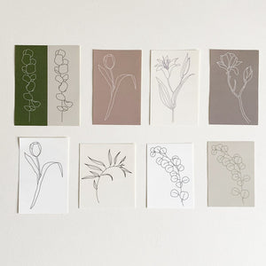 Flower Drawing Stickers | Paper & Cards Studio