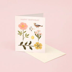 Sparrow Botanical Birthday | Paper & Cards Studio