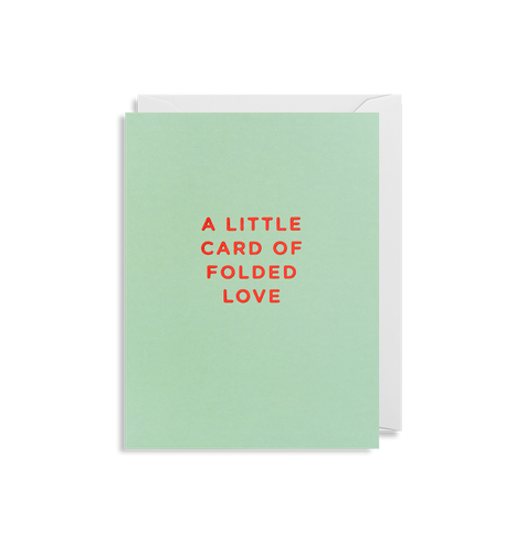 Folded Love Mini Card | Paper & Cards Studio
