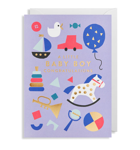 A Baby Boy Card | Paper & Cards Studio