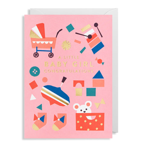 A Baby Girl Card | Paper & Cards Studio
