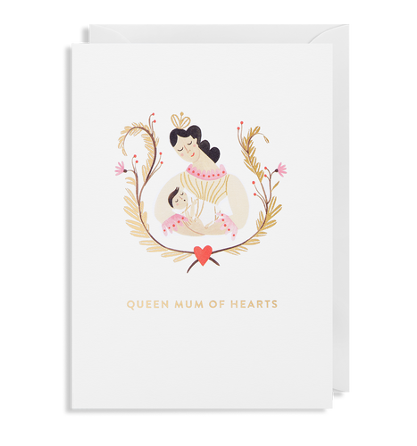 Queen Mum Of Hearts Card | Paper & Cards Studio