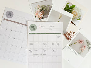 Monthly Planner Sheets | Paper & Cards Studio