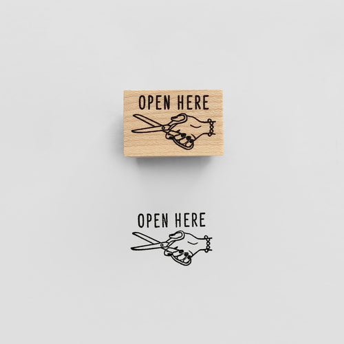 Open Here Stamp | Paper & Cards Studio