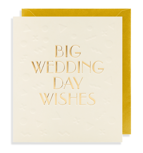 Big Wedding Day Wishes Card | Paper & Cards Studio