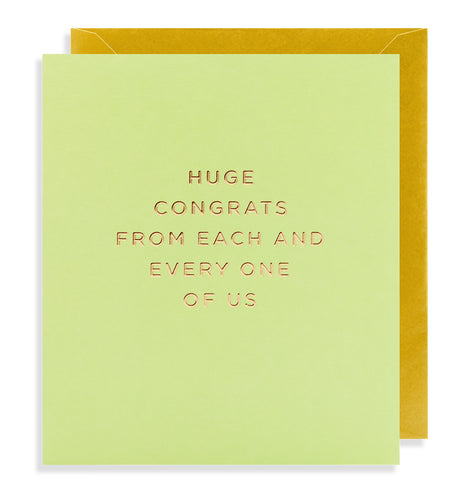 Huge Congrats Card | Paper & Cards Studio