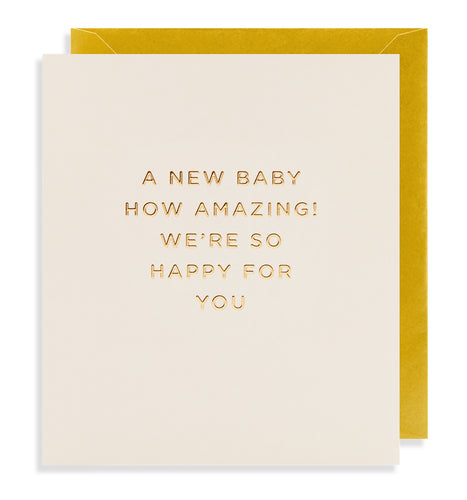 A New Baby How Amazing Card | Paper & Cards Studio