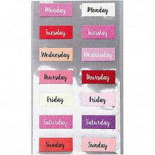 Load image into Gallery viewer, Pink Weekday Stickers | Paper & Cards Studio