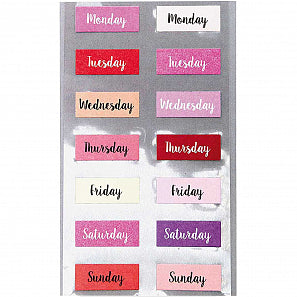 Pink Weekday Stickers | Paper & Cards Studio
