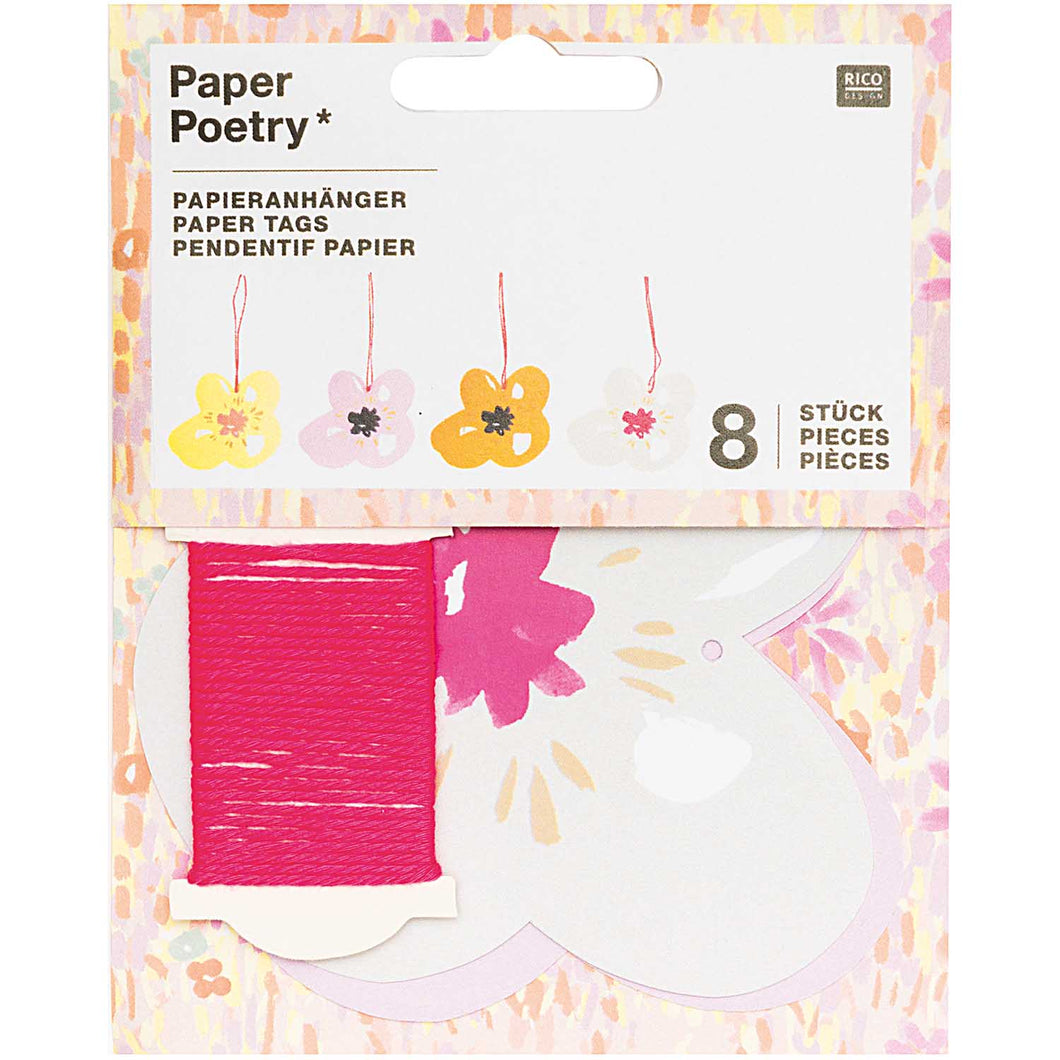 Flower Paper Tag | Paper & Cards Studio