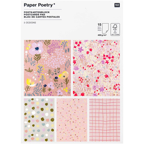 Pink Crafted Postcards | Paper & Cards Studio