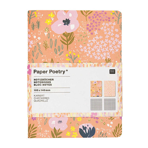 Pink Craft A6 Notebook, Grid | Paper & Cards Studio