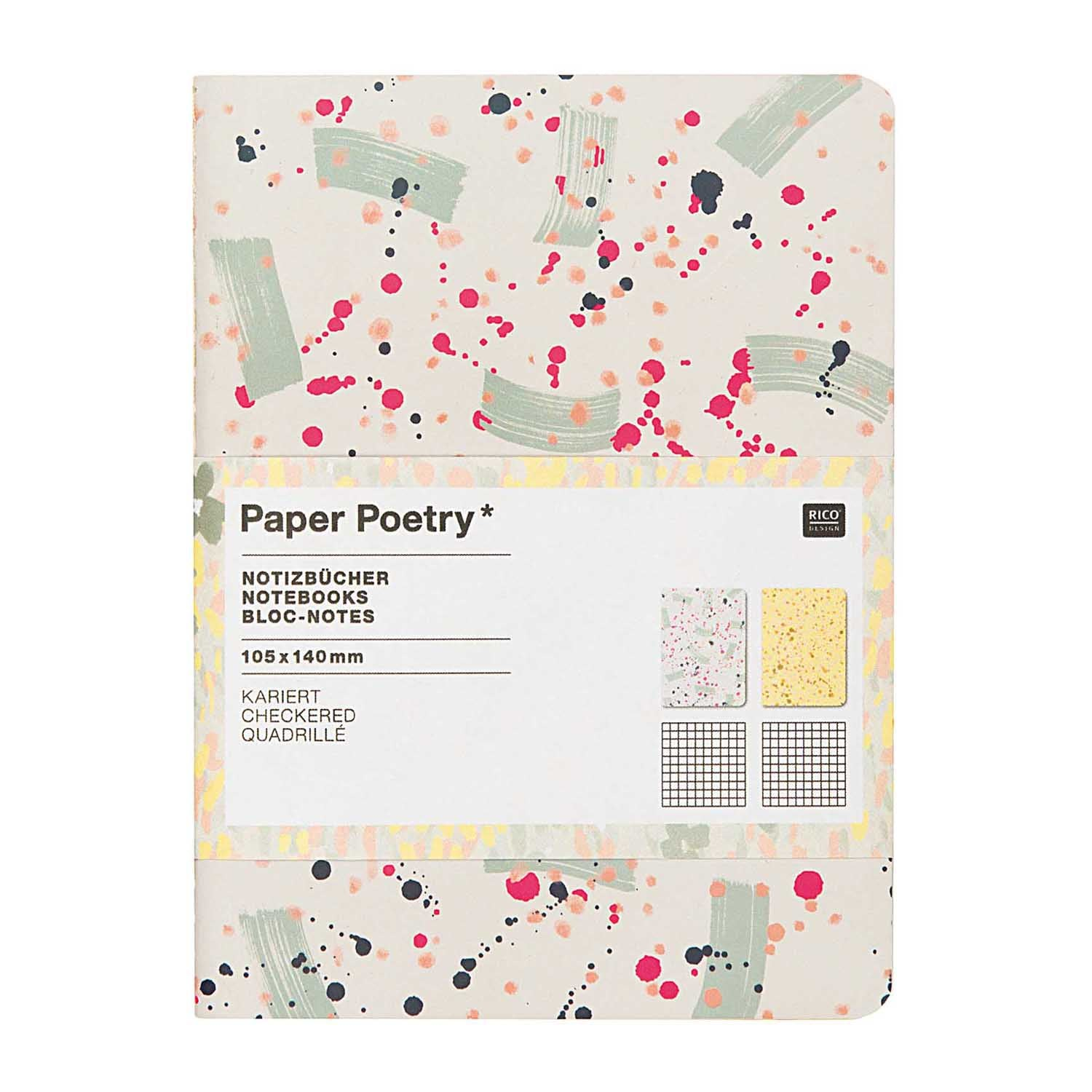 Spot Craft A6 Notebook, Grid Paper Poetry Hong Kong Stationery Design Designer Colourful Hardcover Paint Crafted Nature