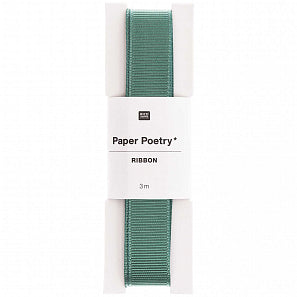Small Mint Grosgrain Ribbon | Paper & Cards Studio