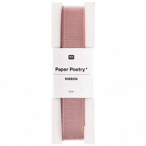 Small Mauve Grosgrain Ribbon | Paper & Cards Studio