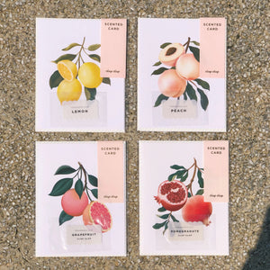 Botanical Scented Card - Grapefruit | Paper & Cards Studio