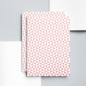 Medium Layflat Notebook, Kaffe Print in Clay Pink | Plain | Paper & Cards Studio