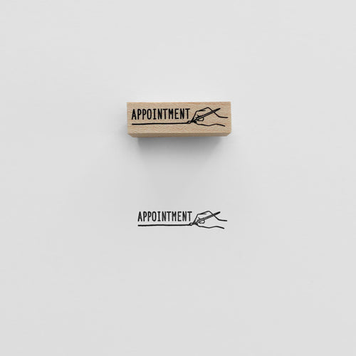 Appointment Stamp | Paper & Cards Studio
