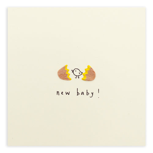New Baby Egg - Pencil Shavings Card
