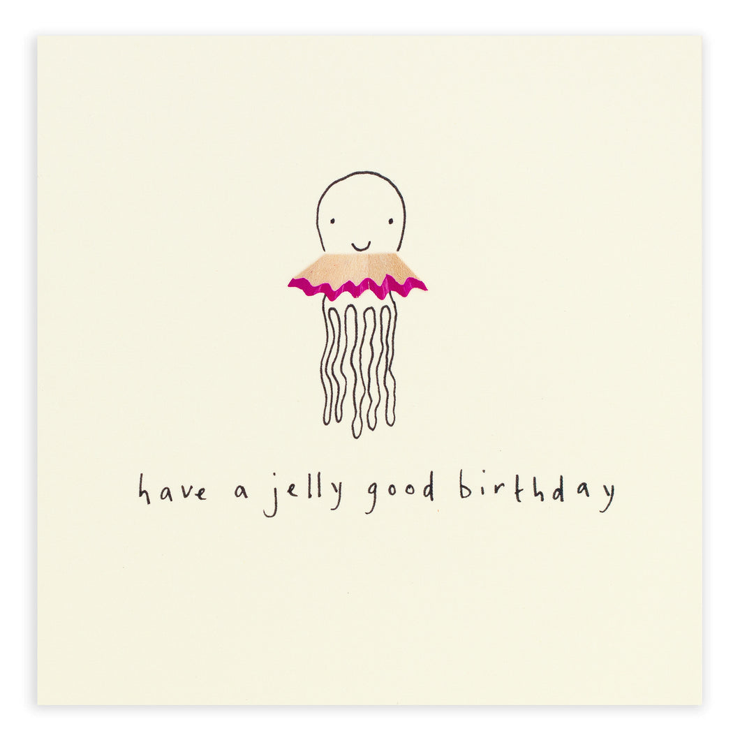 Birthday Jellyfish - Pencil Shavings Card | Paper & Cards Studio