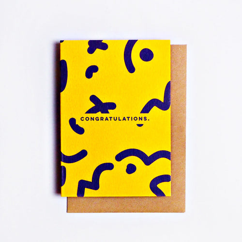 Congratulations Squiggle | Paper & Cards Studio
