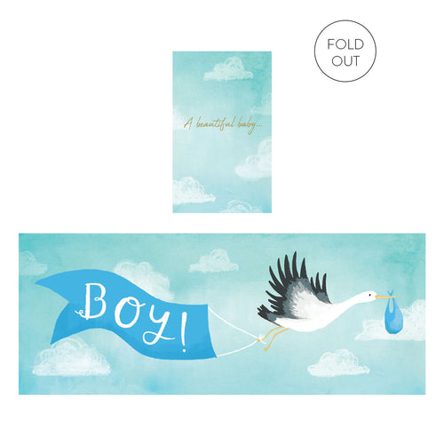 Beautiful Baby Boy Expanding Card | Paper & Cards Studio