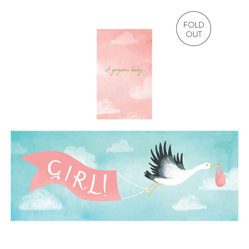 Gorgeous Baby Girl Expanding Card | Paper & Cards Studio