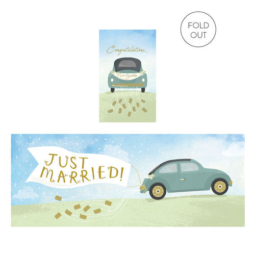Wedding Car Expanding Card | Paper & Cards Studio