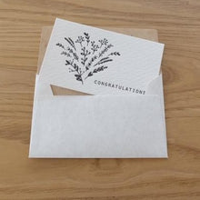 Load image into Gallery viewer, Congratulations Bouquet Mini Letterpress Card | Paper & Cards Studio
