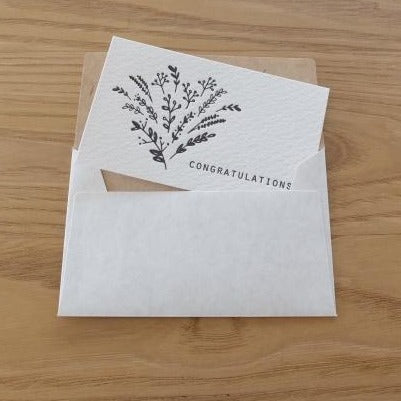Congratulations Bouquet Mini Letterpress Card | Paper & Cards Studio