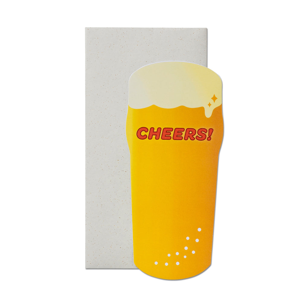 Cheers Beer Glass Card | Paper & Cards Studio