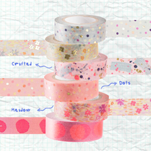 Load image into Gallery viewer, Blue Dots Crafted Tape | Paper & Cards Studio