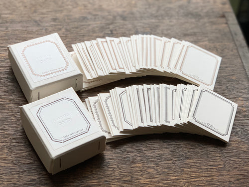 Letterpress Mini Frame Card Box | Paper & Cards Studio