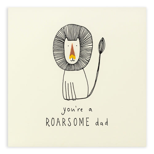 Father's Day Roarsome - Pencil Shavings Card | Paper & Cards Studio