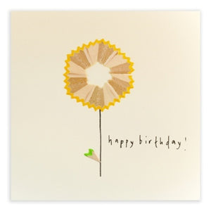 Flower Yellow - Pencil Shavings Card | Paper & Cards Studio