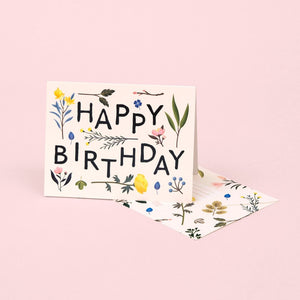 Plant Variety Birthday Card - Ivory | Paper & Cards Studio