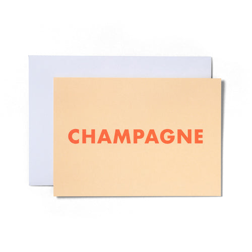 Champagne Greeting Card | Paper & Cards Studio